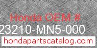 Honda 23210-MN5-000 genuine part number image
