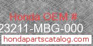 Honda 23211-MBG-000 genuine part number image