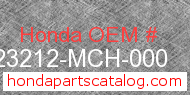 Honda 23212-MCH-000 genuine part number image