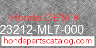 Honda 23212-ML7-000 genuine part number image
