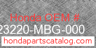 Honda 23220-MBG-000 genuine part number image