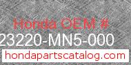 Honda 23220-MN5-000 genuine part number image