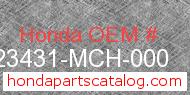Honda 23431-MCH-000 genuine part number image
