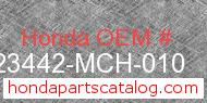 Honda 23442-MCH-010 genuine part number image