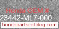Honda 23442-ML7-000 genuine part number image