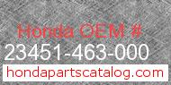 Honda 23451-463-000 genuine part number image