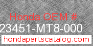 Honda 23451-MT8-000 genuine part number image