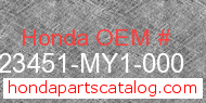 Honda 23451-MY1-000 genuine part number image