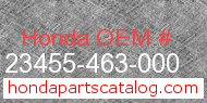 Honda 23455-463-000 genuine part number image