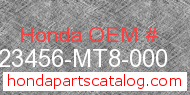 Honda 23456-MT8-000 genuine part number image