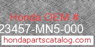 Honda 23457-MN5-000 genuine part number image