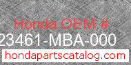 Honda 23461-MBA-000 genuine part number image