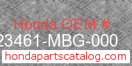 Honda 23461-MBG-000 genuine part number image