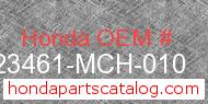Honda 23461-MCH-010 genuine part number image