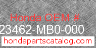 Honda 23462-MB0-000 genuine part number image