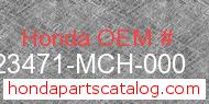 Honda 23471-MCH-000 genuine part number image