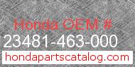 Honda 23481-463-000 genuine part number image