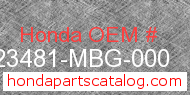 Honda 23481-MBG-000 genuine part number image