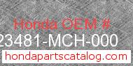 Honda 23481-MCH-000 genuine part number image