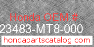 Honda 23483-MT8-000 genuine part number image