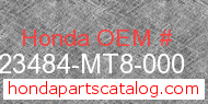 Honda 23484-MT8-000 genuine part number image