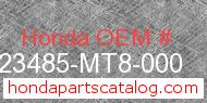 Honda 23485-MT8-000 genuine part number image