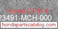 Honda 23491-MCH-000 genuine part number image