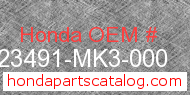 Honda 23491-MK3-000 genuine part number image