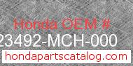 Honda 23492-MCH-000 genuine part number image