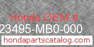 Honda 23495-MB0-000 genuine part number image