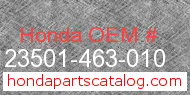 Honda 23501-463-010 genuine part number image