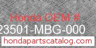 Honda 23501-MBG-000 genuine part number image