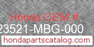 Honda 23521-MBG-000 genuine part number image