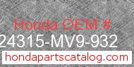 Honda 24315-MV9-932 genuine part number image