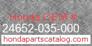 Honda 24652-035-000 genuine part number image