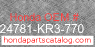 Honda 24781-KR3-770 genuine part number image