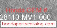 Honda 28110-MV1-000 genuine part number image