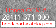 Honda 28111-371-000 genuine part number image