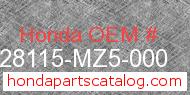 Honda 28115-MZ5-000 genuine part number image