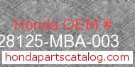 Honda 28125-MBA-003 genuine part number image