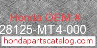 Honda 28125-MT4-000 genuine part number image