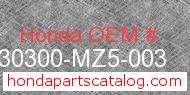 Honda 30300-MZ5-003 genuine part number image