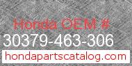 Honda 30379-463-306 genuine part number image