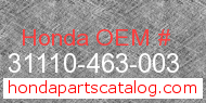 Honda 31110-463-003 genuine part number image