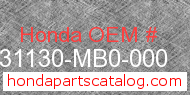 Honda 31130-MB0-000 genuine part number image
