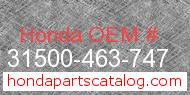 Honda 31500-463-747 genuine part number image