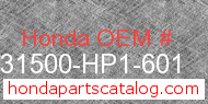 Honda 31500-HP1-601 genuine part number image