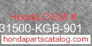 Honda 31500-KGB-901 genuine part number image