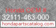 Honda 32111-463-000 genuine part number image