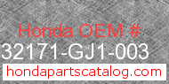 Honda 32171-GJ1-003 genuine part number image
